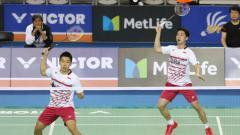 Indosport - Perjalanan penuh rintangan Kevin Sanjaya/Marcus Gideon untuk mencapai final Korea Open 2019.