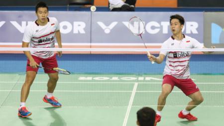 Kevin Sanjaya Sukamuljo/Marcus Fernaldi Gideon lolos ke perempatfinal Korea Open 2017. - INDOSPORT