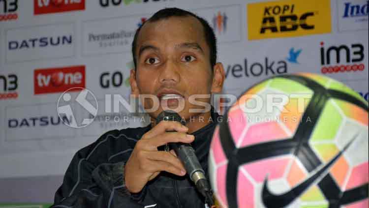 Riko Simanjuntak, gelandang sayap Semen Padang. Copyright: Taufik Hidayat/INDOSPORT