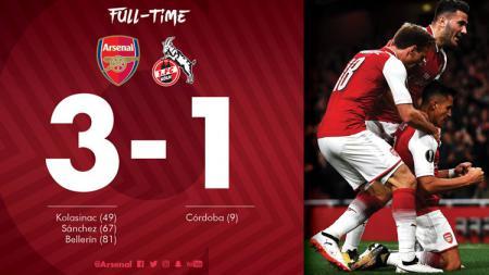 Arsenal vs FC Koln. - INDOSPORT