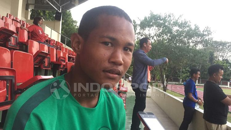 Stiker Timnas Indonesia U-16, Bagus Kahfi. Copyright: Muhammad Adiyaksa/INDOSPORT