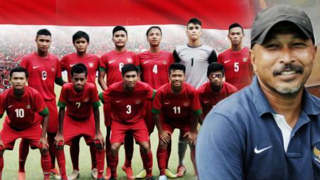 Fachry Husaini dan skuat Timnas U-16. - INDOSPORT