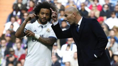 Zinedine Zidane dan Marcelo sudah saling mengerti kemauan masing-masing. - INDOSPORT