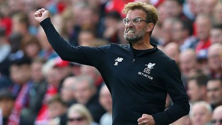 Ekspresi kemarahan dari pelatih Liverpool, Jurgen Klopp. - INDOSPORT