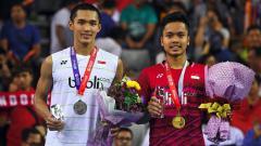 Indosport - Media China kembali membawa-bawa nama Anthony Sinisuka Ginting dan Jonatan Christie saat membahas soal kekuatan tunggal putranya di Olimpiade Tokyo 2020.