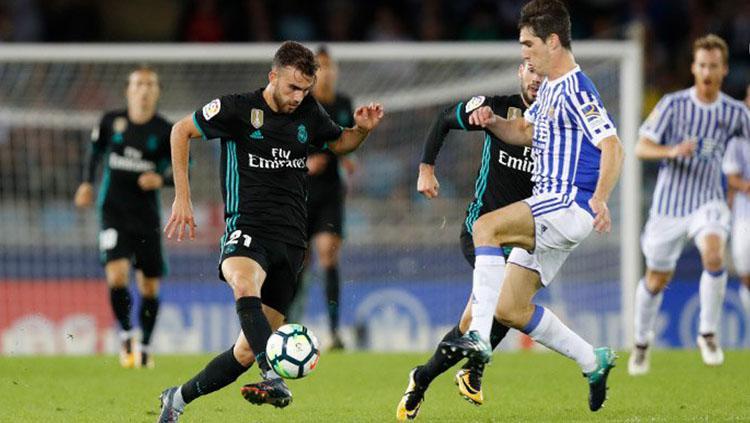 Real Madrid sukses mengemas kemenangan 3-1 saat menghadapi Real Sociedad. Copyright: Twitter Real Madrid