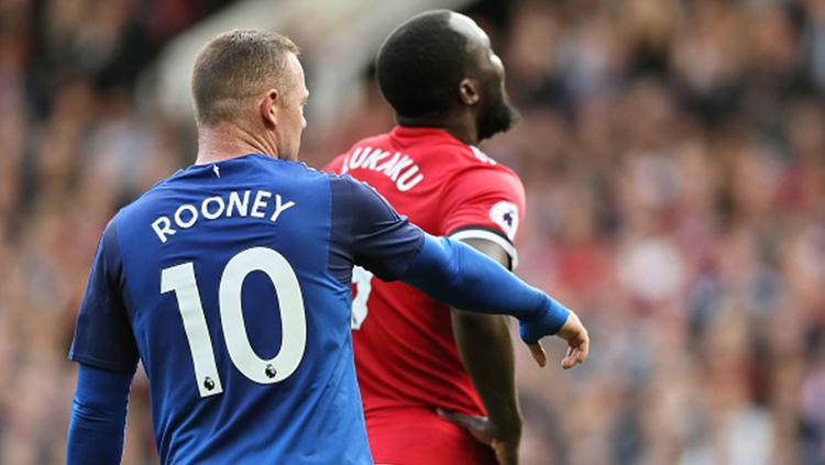 Romelu Lukaku dan Wayne Rooney sama-sama lakoni laga lawan mantan klub. Copyright: INDOSPORT