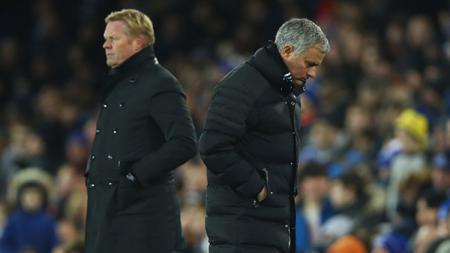 Ronald Koeman dan Jose Mourinho. - INDOSPORT