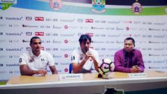 Indosport - Pelatih Persija, Stefano Cugurra Teco dan Bruno Lopes.