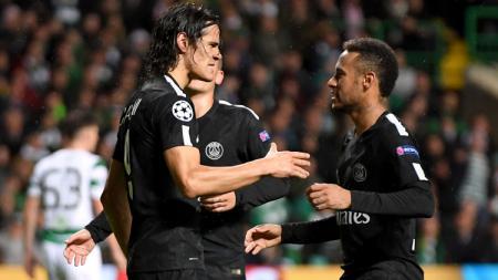 Penyerang Paris Saint-Germain (PSG), Cavani dan Neymar. - INDOSPORT