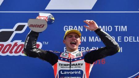 Rider Moto2, Lorenzo Baldassarri secara blak-blakan menyebut bahwa tim milik Valentino Rossi tak punya masa depan yang cerah. - INDOSPORT