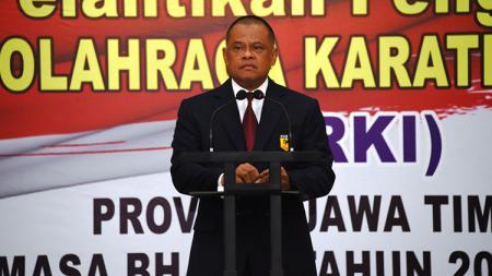 Panglima TNI Jenderal Gatot Nurmantyo, selaku ketua PB FORKI mengatakan siap untuk menghadapi Asian Games 2018 dan Olimpiade 2020. - INDOSPORT