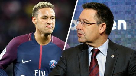 Josep Maria Bartomeu (kanan) dan Neymar. - INDOSPORT