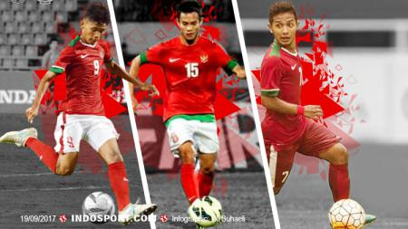 Kiri-kanan: Sutan Zico, Maldini Pali, dan Gian Zola. - INDOSPORT