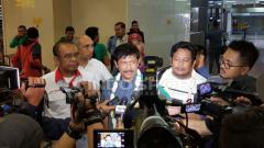 Indosport - Indra Sjafri tiba di Indonesia.