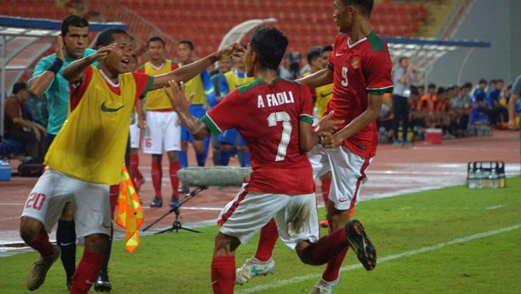 Timnas Indonesia U-16 vs Timnas Thailand U-16. Copyright: PSSI