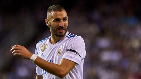 Karim Benzema, striker Real Madrid saat beraksi di lapangan. - INDOSPORT