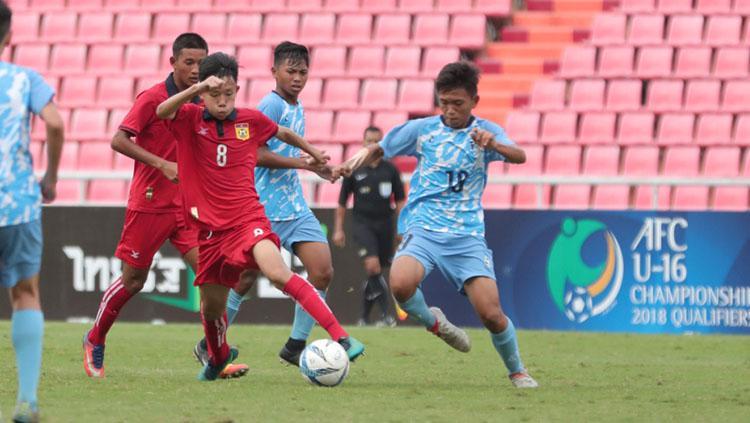 Laos meraih kemenangan 10-0 atas Kep. Mariana Utara. Copyright: AFC