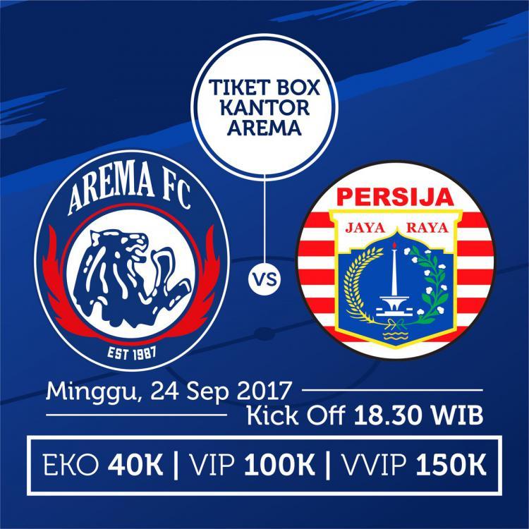 Harga tiket Arema FC vs Persija Jakarta. Copyright: Arema FC