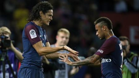 Neymar dan Edinson Cavani. - INDOSPORT