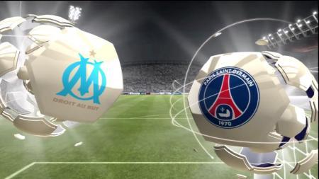 Logo Marseille dan Paris Saint-Germain. - INDOSPORT