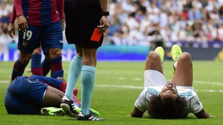 Marcelo absen memperkuat Real Madrid melawan Deportivo Alaves karena cedera. - INDOSPORT