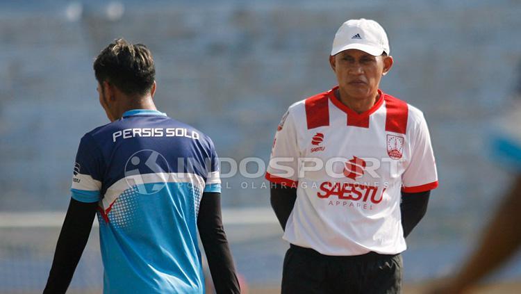 Pelatih Persis Solo, Widiyantoro. Copyright: Ghozi El Fitra/INDOSPORT