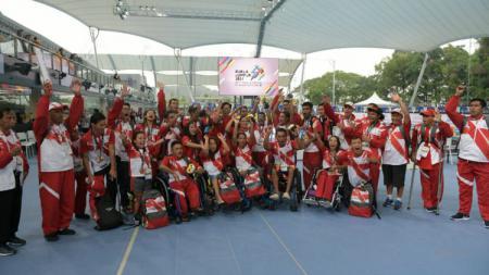 Kontingen Indonesia di ASEAN Paragames 2017. - INDOSPORT