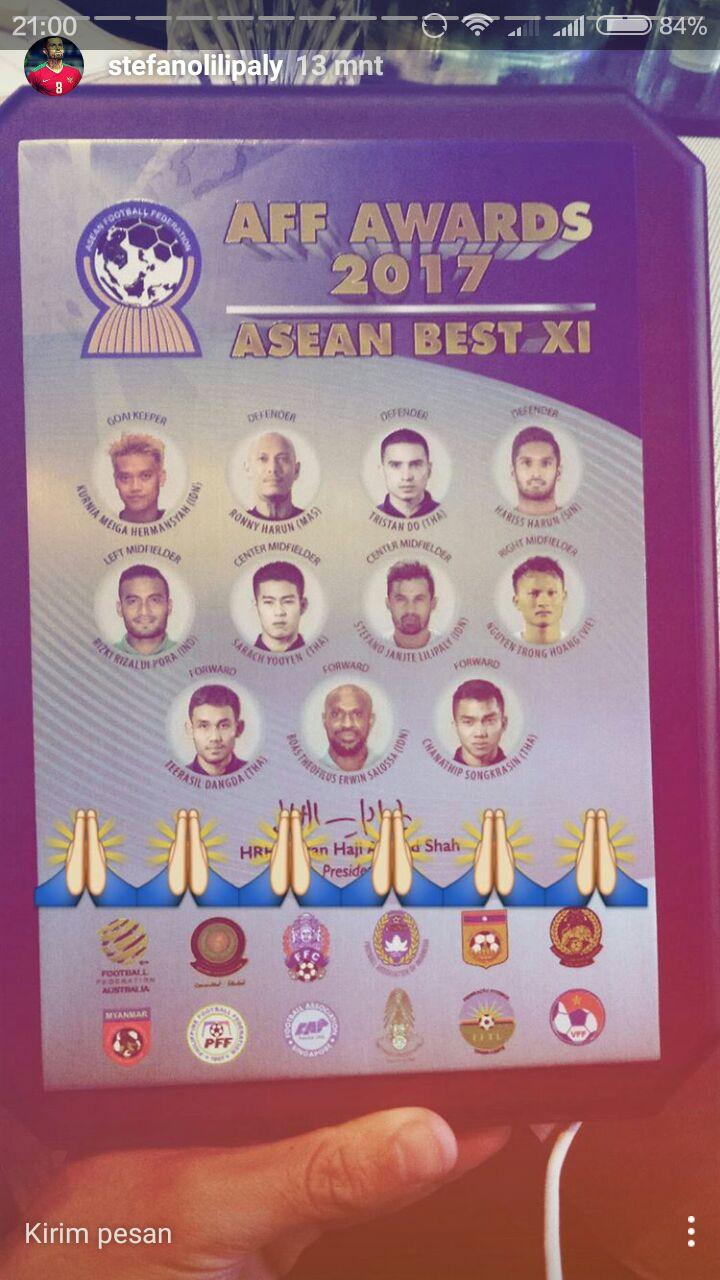 Line Up terbaik AFF 2017. Copyright: Instastory/Lilipaly