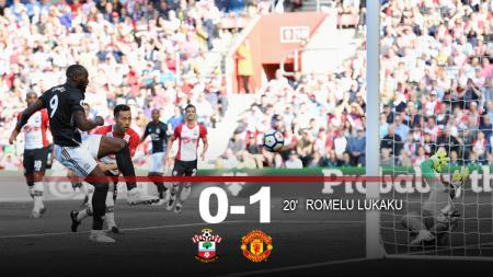 Babak pertama Southampton vs Manchester United. - INDOSPORT