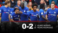 Indosport - Babak pertama Stoke City vs Chelsea.