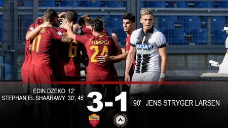 Hasil pertandingan AS Roma vs Udinese. - INDOSPORT