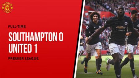 Hasil laga Southampton vs Manchester United. - INDOSPORT