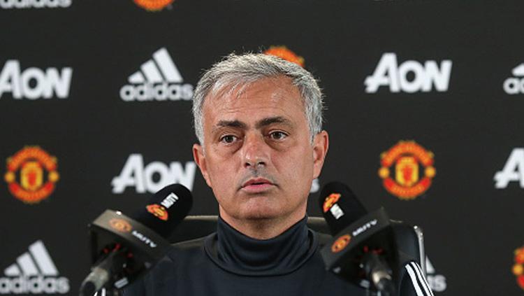 Jose Mourinho, pelatih Man United. Copyright: INDOSPORT