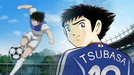 Tokoh anime yang terkenal di Indonesia era 90-an sampai era 2000-an, Captain Tsubasa, secara resmi dijadikan sebagai nama bola untuk Olimpiade Tokyo 2020. - INDOSPORT