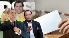 Indosport - Nurdin Halid, Edy Rahmayadi, dan La Nyalla Mattalitti.