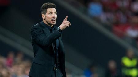 Pelatih Atletico Madrid, Diego Simeone, memiliki rencana berbahaya jelang derbi melawan rival sekota mereka, Real Madrid, pada pekan ke-7 Liga Spanyol. - INDOSPORT
