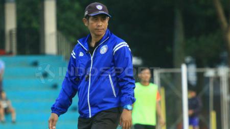 Pelatih Arema FC, Joko Susilo. - INDOSPORT