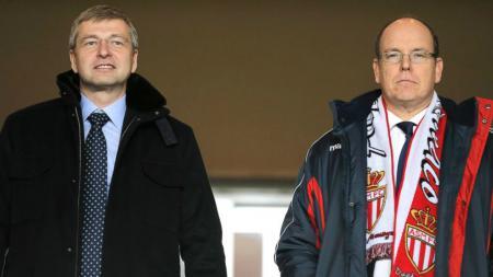Presiden AS Monaco, Dmitry Rybolovlev (kiri) dan Prince Albert II Of Monaco. - INDOSPORT