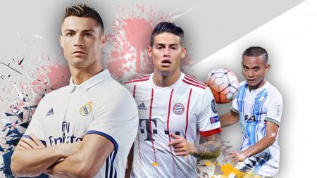 Cristiano Ronaldo, James Rodrguez, dan Faiz Subri - INDOSPORT