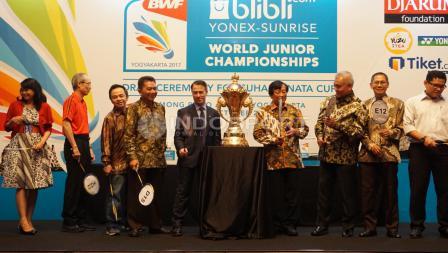 Suasana acara drawing BWF World Junior Championship 2017 di Jakarta.