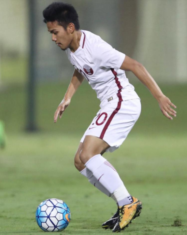 Andri Syahputra saat bermain untuk Timnas U-19 Qatar. Copyright: @andri010