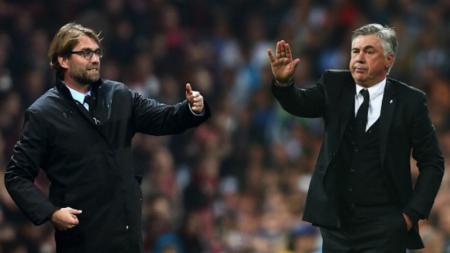Jurgen Klopp dan Carlo Ancelotti. - INDOSPORT