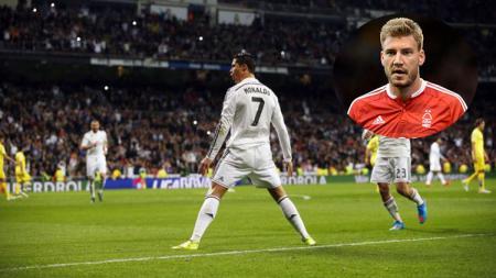 Ronaldo dan Nicklas Bendtner. - INDOSPORT