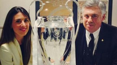 Katia dan Carlo Ancelotti. - INDOSPORT