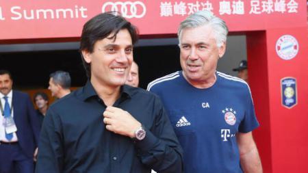 Montella dan Ancelotti. - INDOSPORT