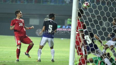 Gol kedua Indonesia dicetak oleh Rezaldi Hehanusa. INDOSPORT/Herry Ibrahim