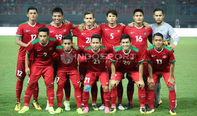 Skuat Timnas Indonesia saat menghadapi Kamboja. INDOSPORT/Herry Ibrahim Copyright: INDOSPORT/Herry Ibrahim