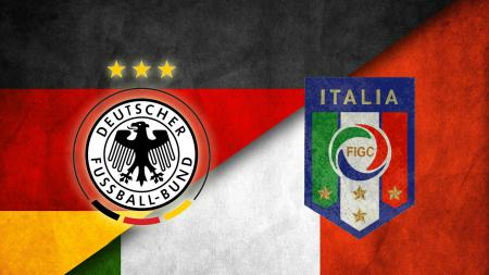 Logo Timnas Jerman dan Italia. - INDOSPORT