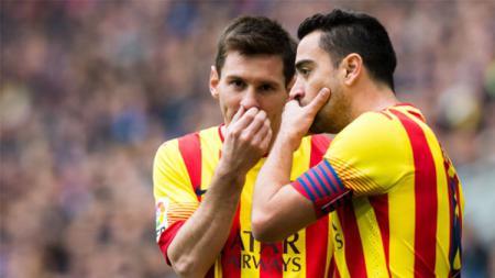 Xavi Hernandez diminta untuk menjadi pelatih anyar Barcelona karena ada si Dewa Sepak Bola, Lionel Messi. - INDOSPORT
